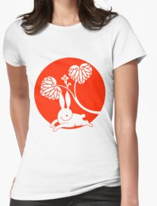 Running Rabbit Reversed Womens Fitted T-Shirt
