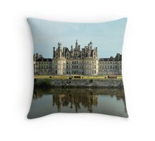 Portrait of Château de Chambord  Throw Pillow