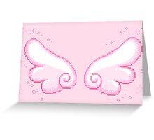 pixel wings Greeting Card
