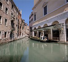 Rubbish collecting Venice style by David Freeman