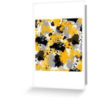 Orange and Black Splatter Greeting Card