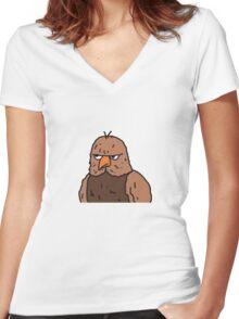Big Lez Show Owly Women's Fitted V-Neck T-Shirt