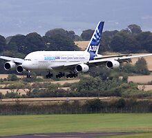 Airbus A380 Approch Edinburgh (2009) 6 by Richard Hanley www.scotland-postcards.com