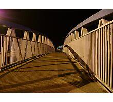 bridge (dusk: receding curves, zigzag shadows) Photographic Print