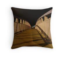 bridge (dusk: receding curves, zigzag shadows) Throw Pillow