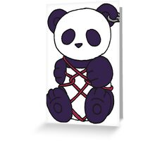 Shibari Panda Greeting Card