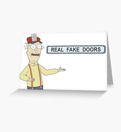 Rick and Morty: Real Fake Doors Greeting Card