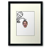 calvin peeing on mike matei Framed Print