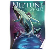 Swim with the Whales on Neptune Poster
