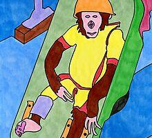 Ham the chimp by David Kilpatrick