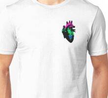 Polysexual Pride Heart (with black detail) Unisex T-Shirt