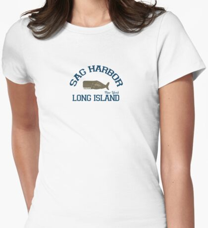 Sag Harbor - Long Island.  Womens Fitted T-Shirt