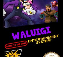 Waluigi: Balls to the Wall NES Style Shirt by rubberromero