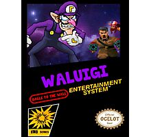 Waluigi: Balls to the Wall NES Style Shirt Photographic Print