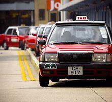 Hong Kong Taxi by Marnie Hibbert