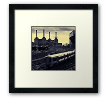 Battersea and Rail Framed Print