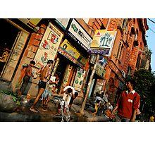 Street Shower Photographic Print