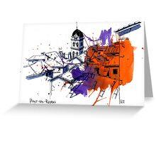 Pont-en-Royans, France Greeting Card