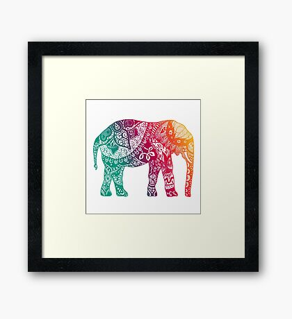 Warm Elephant Framed Print