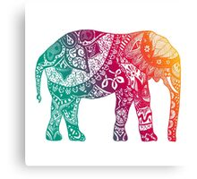 Warm Elephant Canvas Print