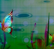 Butterflies & Irises by Darlene Lankford Honeycutt