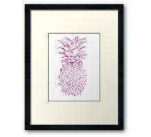 Pink Pineapple Framed Print