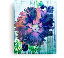 Painted Hollyhock Canvas Print
