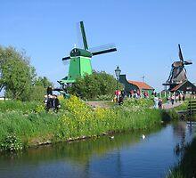 Dutch windmills by Elena Skvortsova