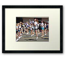 Cheerleaders Framed Print