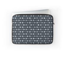 Chalkboard Black and White Tribal Arrow Pattern Laptop Sleeve