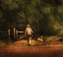 A man and his best friend by Mike  Savad