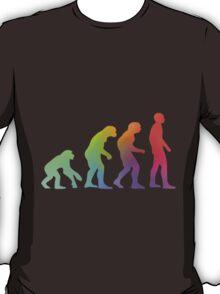Rainbow Evolution of Man T-Shirt