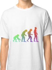 Rainbow Evolution of Man Classic T-Shirt