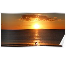 sunset at coogee Poster