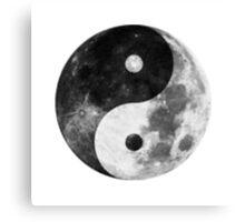 Moon Yin Yang Canvas Print