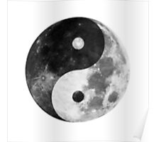 Moon Yin Yang Poster