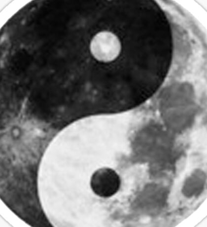 Moon Yin Yang Sticker
