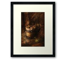 An old pail Framed Print