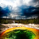 Hot sulphur pool Yellowstone by Melinda Kerr