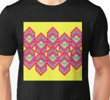 Squared Yellow Unisex T-Shirt