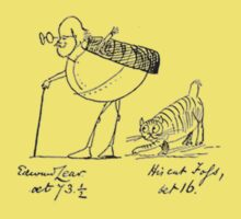 Edward Lear and his Cat Foss Kids Clothes
