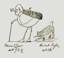 Edward Lear and his Cat Foss by taiche