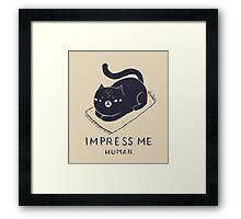 impress me Framed Print