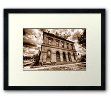 Going Postal (Sepia) - Clunes - The HDR Experience Framed Print