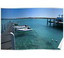 Coral Bay Boat Marina Poster