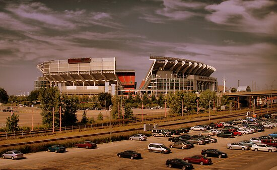 Cleveland Browns Stadium by Jeff  Burns
