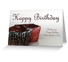 Happy Birthday with Cupcakes Greeting Card