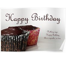Happy Birthday with Cupcakes Poster