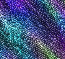 Colorful Dragon Skin Mosaic Tiles by HavenDesign