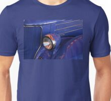 The Red And White On Blue Car Unisex T-Shirt
